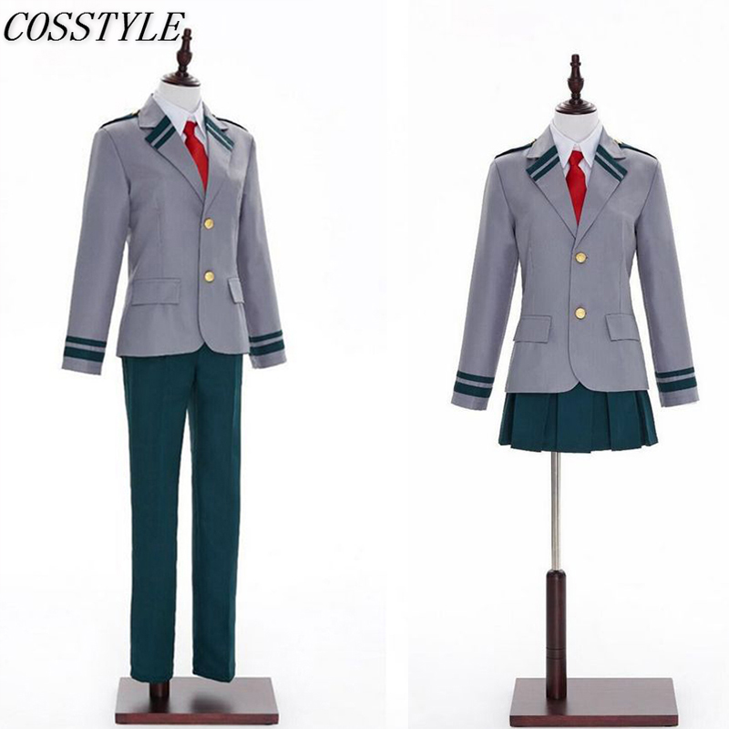 Boku no Hero Academia School Uniforms Bakugou Katsuki  Costumes My Hero Academia OCHACO URARAKA Midoriya Izuku Cosplay Costume