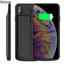 leioua Battery Case For iPhoneX XS 3200mAh External Battery Charger Case Backup Power Bank Power Charging Case