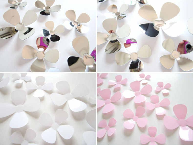 12 piunids/lote calcomanías De flores De PVC pegatinas De pared 3D cartel De decoración del hogar para habitaciones De niños adhesivo a la decoración De la pared Adesivo De parede