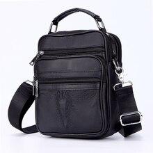 عالية الجودة الرجال التمساح رئيس حقائب صغيرة جلد أصلي للرجال حقيبة ساع الذكور حقيبة صغيرة الصبي حقيبة جلدية