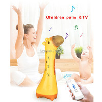 Wireless Bluetooth Transmission Handheld Palm KTV Electric Microphone Toy Fawn Model Multifunction Singing Musical Toy For