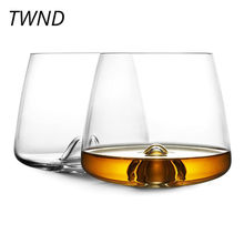 350ML Whisky glass cup transparent wine glasses handmade tea mugs and cups brandy snifters bar(China)
