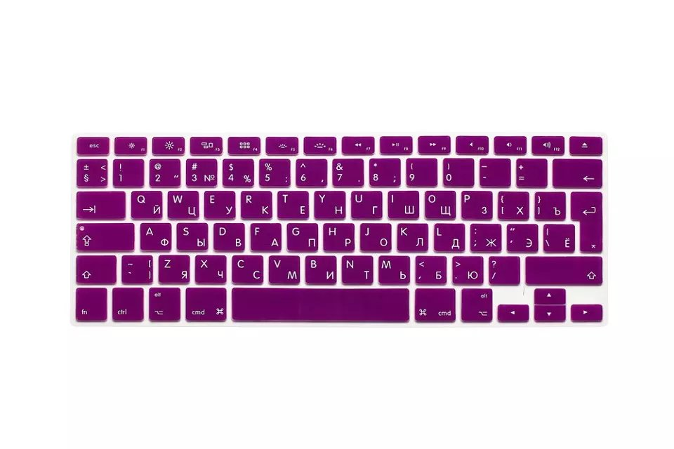 EU US Soft Silicon For Macbook A1466 Keyboard Cover Russian Language Cover For Macbook Retina13 Keyboard Cover (7)