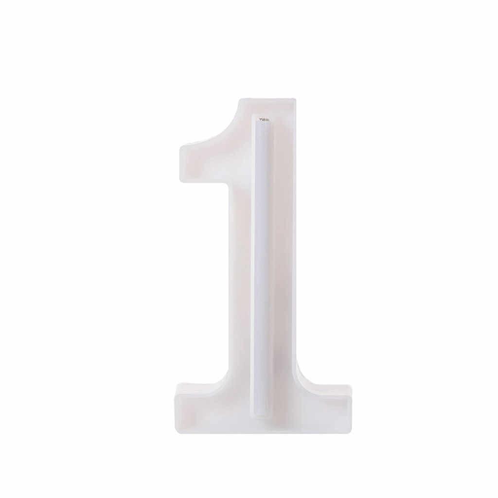 Светодиодный USB письмо загорается белые пластиковые буквы Висячие 0-9 настенный ночник домашний Свадебный день рождения Декор