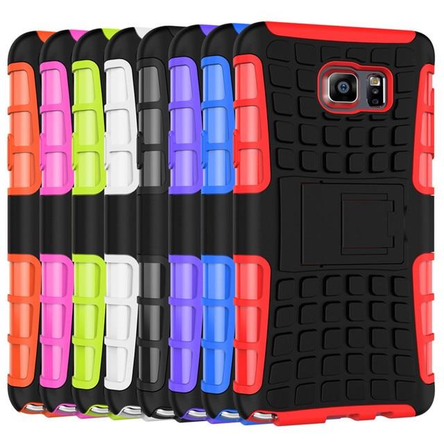 PC + TPU Heavy Duty Case For Samsung Galaxy Note 5 N9200 N9208 N9209 N920F SM-N920F Stand Defender Armor Case Back Cover