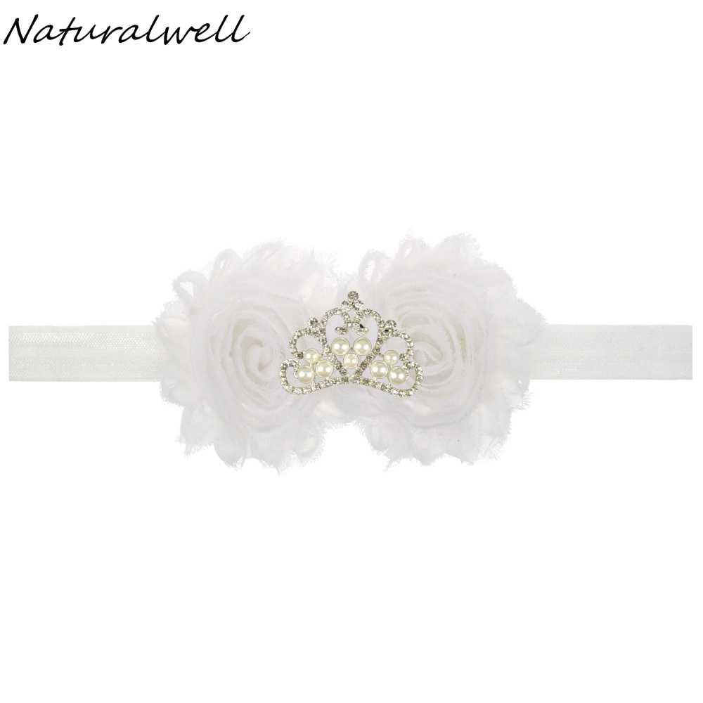 Naturalwell bebé accesorios para el cabello niñas niños corona diadema elástico niños girasoles cabeza banda de pelo 1 pc HB315