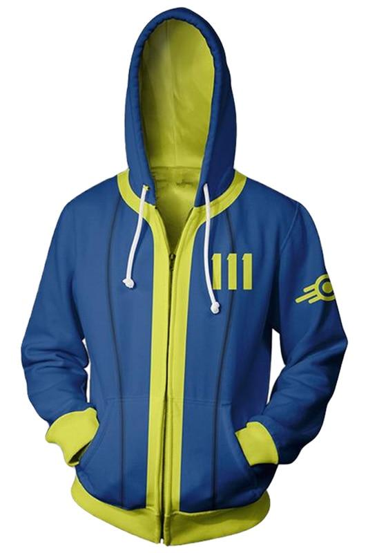 Fallout 4 Hoodie 3D Printed Zipper Up Hooded Hoodie Adult Men Women Casual Sweatshirt Cool Pullover Zip Up Hoody Hoodies