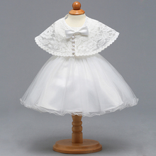 Christening Gown with Cape Embroidered Baptism Dress Newborn Baby Frocks Lace Tutu Special Occasion Outfits A015 bebe Vestidos
