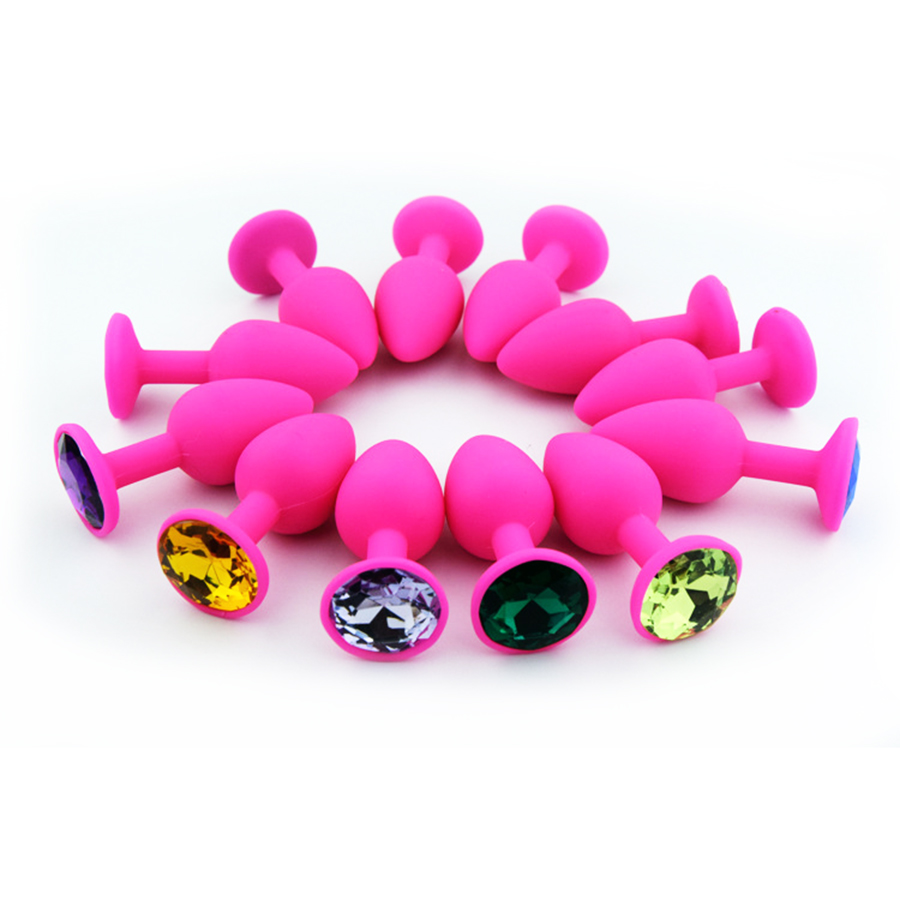 Jeweled Silicone Butt Plug