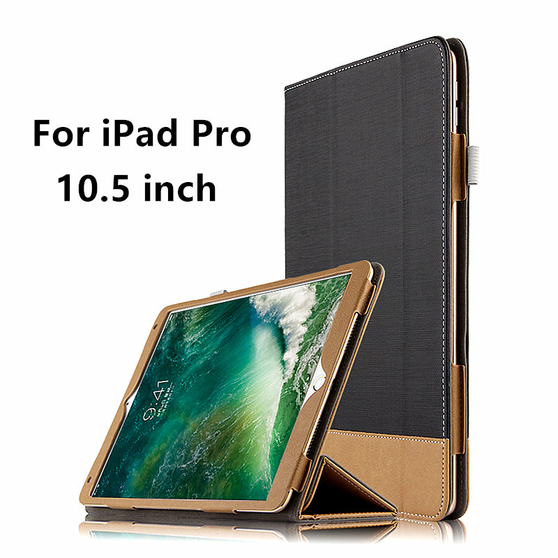 Case For Apple iPad Pro 10.5 inch New 2017 Leather Smart Cover For 10.5 iPadPro ipad10.5 Tablet Protector Protective PU cases official original 1 1 case cover for apple ipad pro 12 9 2017 cases tpu smart clear cover for ipad pro ipad plus 12 9 2015 case
