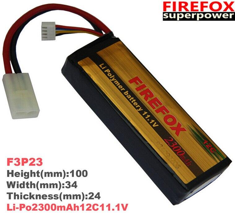 1pcs 100% Orginal Firefox 11.1V 2300mAh LiPo Li-Po Li-Polymer Battery 12C F3P23 Drop shipping аккумулятор li po 11 1 вольт firefox в туле