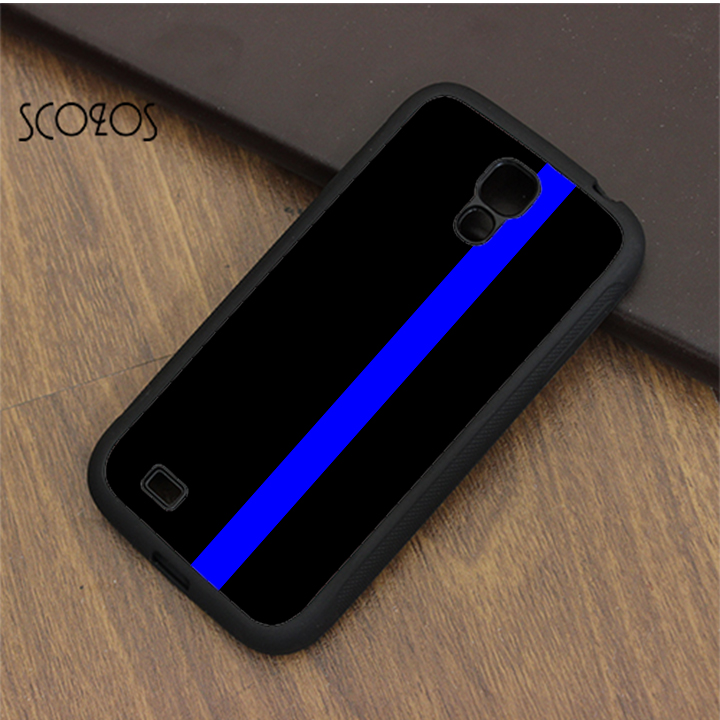 finest selection 1b880 64379 SCOZOS THIN BLUE LINE Police phone case cover for samsung galaxy S3 S4 S5  S6 S7 S8 S6 edge S7 edge note 3 note 4 note 5 &qe355-in Fitted Cases from  ...