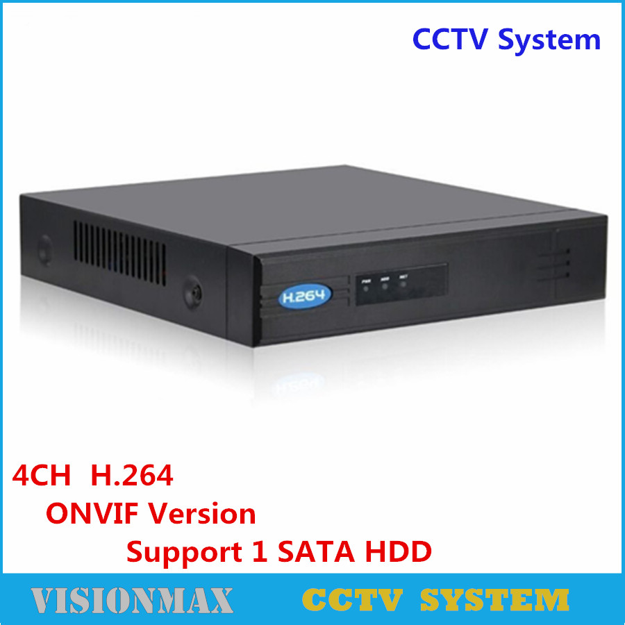 Full HD CCTV Onvif NVR POE 4CH Security Network Video Recorder H.264 HDMI VGA Support 1 SATA HDD P2P cloud Surveillance System techege 4ch 8ch full hd onvif 1080p 48v real poe nvr all in one network video recorder for poe ip cameras p2p xmeye cctv system