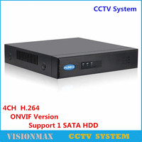 Full HD CCTV Onvif NVR POE 4CH Security Network Video Recorder H 264 HDMI VGA Support
