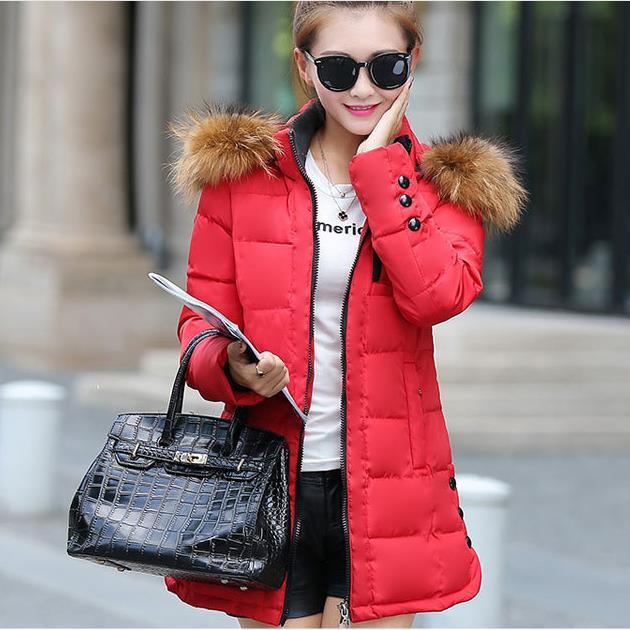 Cheap wholesale 2017 new Autumn Winter Hot sale women's fashion casual down cotton artificial wool collar pure color cute coat свитшот blend