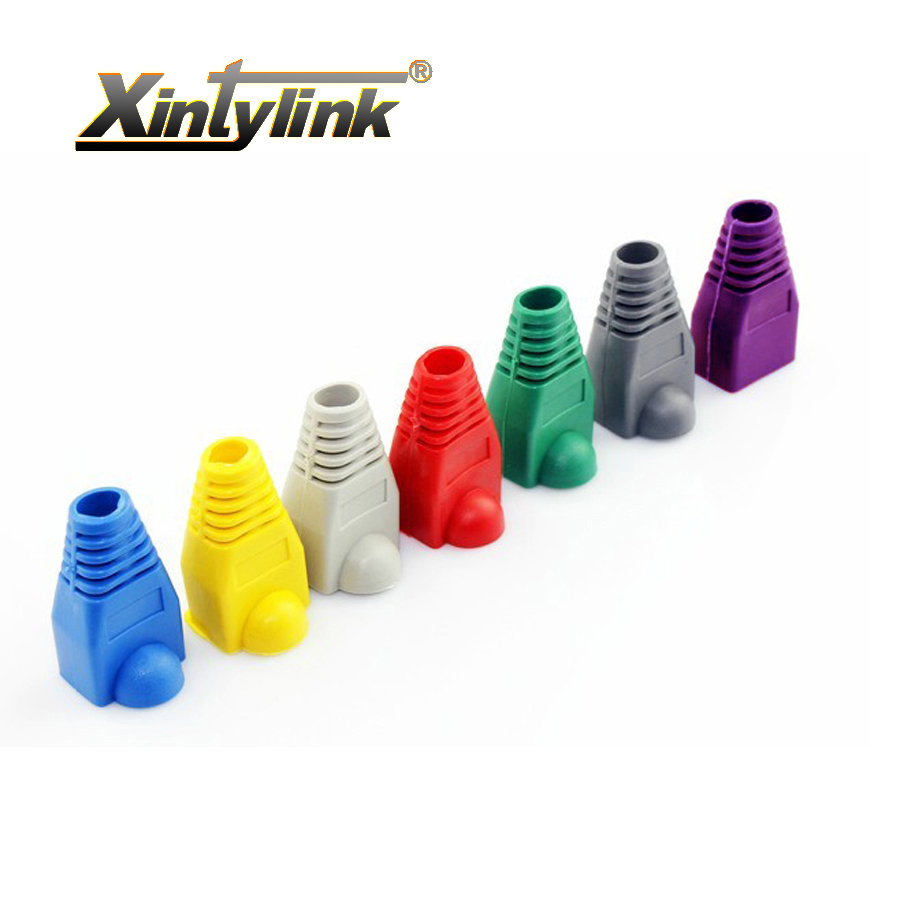 xintylink rj45 caps connector sheath cat5 cat5e cat6 multicolour tpu boots protective sleeve network connectors ethernet parts