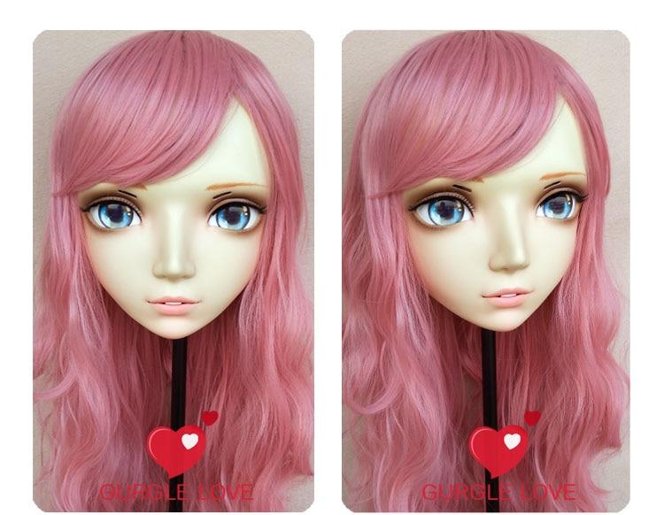 gl076 Kids Costumes & Accessories Sweet Girl Resin Half Head Bjd Kigurumi Mask With Eyes Cosplay Anime Role Lolita Mask Crossdress Doll