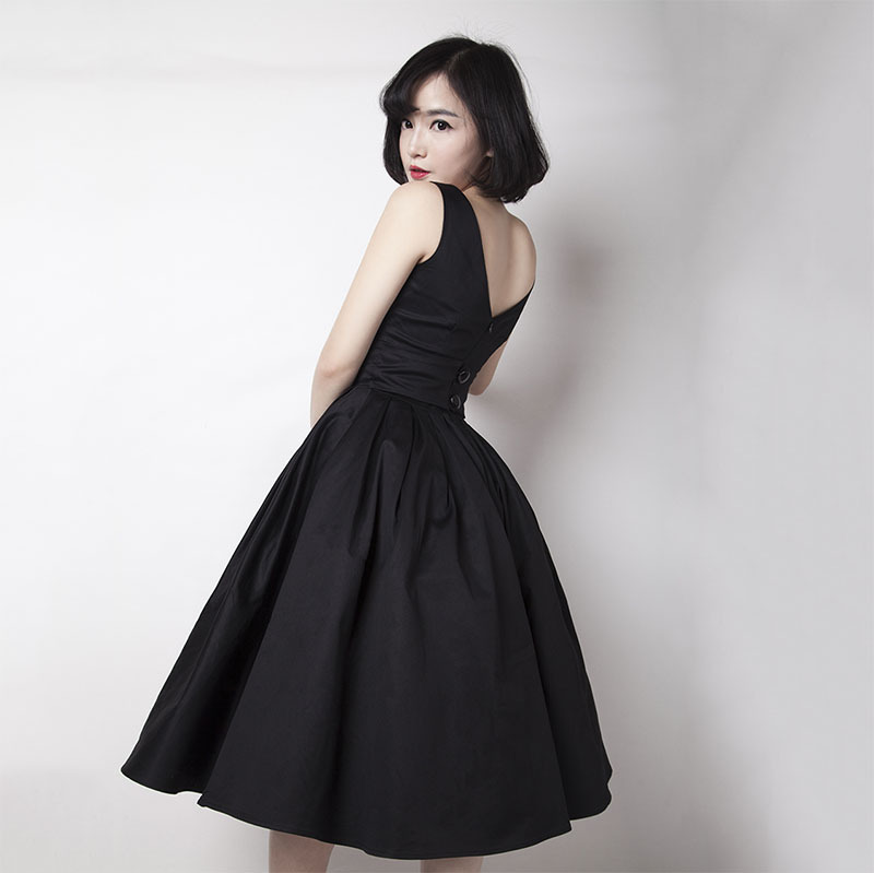 Elegant Summer Dress Audrey Hepburn Vintage Dress 50s 60s ...