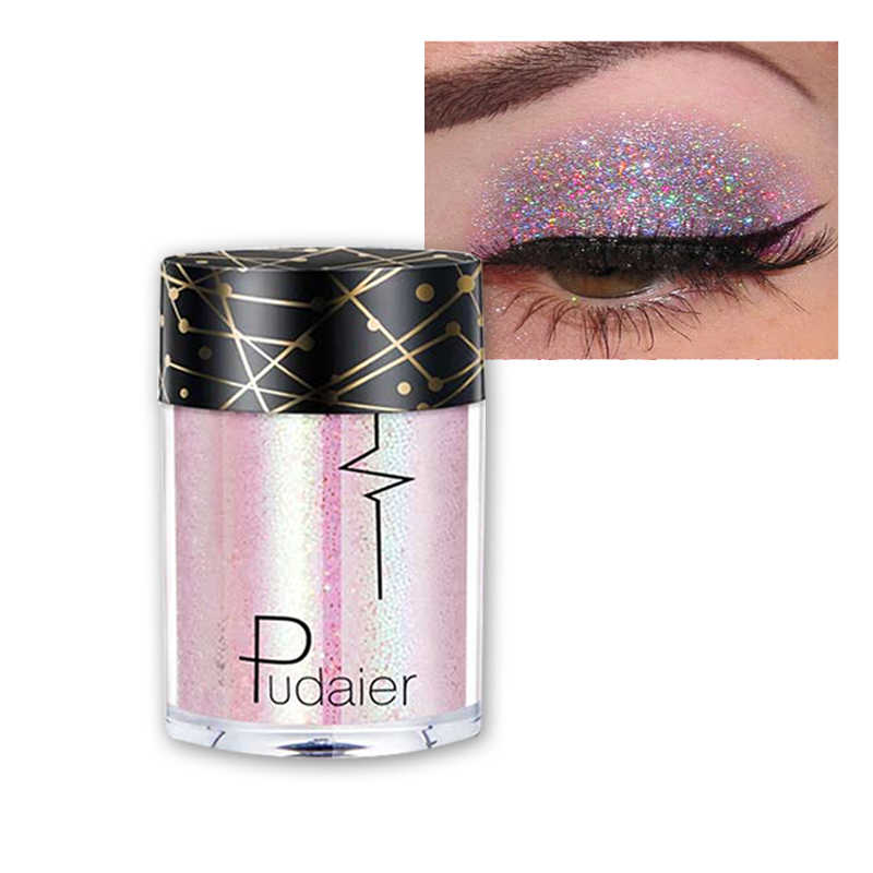 Shimmer Shine Eyeshadow Glitter Eyeshadow Face Powder Eye Shadow Palet Bayangan Logam Eyeshadow Wanita Make Up Palet