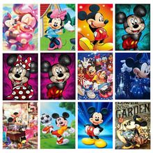 5D Diamond Painting Full Drill Mickey Mouse Mosaic Sale Round Rhinestones Pictures Embroidery Cartoon Home Decor