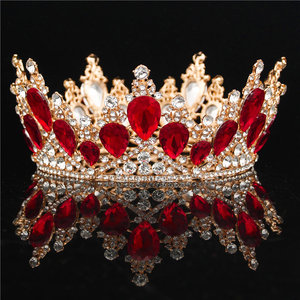 Image 4 - Baroque Crystal Crown Bridal Queen Tiara Diadem Prom Party Wedding hair jewelry Tiaras and Crowns Headband Head Ornaments