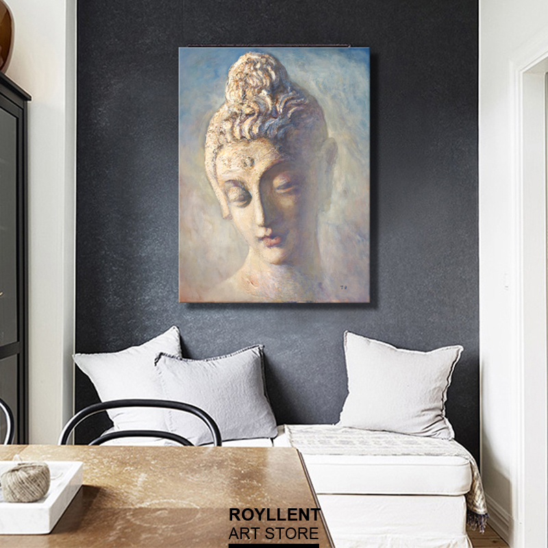 New Modern Canvas Print Buddha Paintings For Livingroom Home Decoration  Cuadros Wall Art Picture Canvas (No Frmae)RA0055 In Painting U0026 Calligraphy  From Home ...