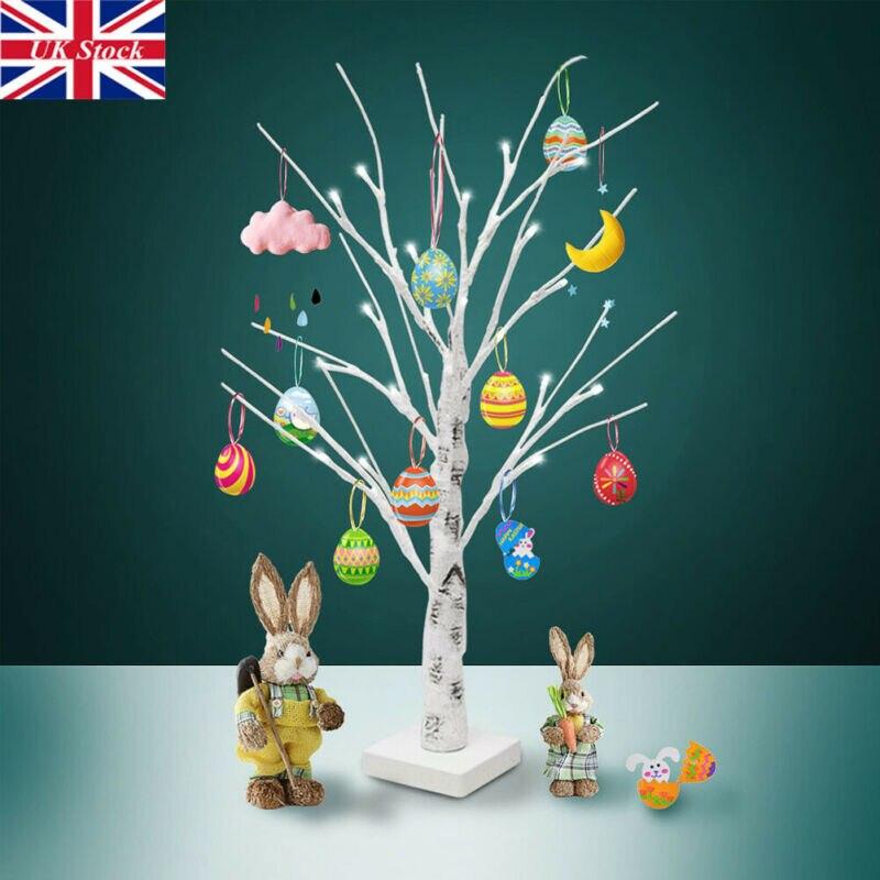 Árbol de Pascua con luces para decoraciones colgantes huevos de Pascua blanco 60cm decoración de árbol Artificial para dormitorio Cabeza de oveja de resina creativa cabeza de cráneo colgante de pared 3D Animal escultura de Longhorn figuritas artesanías cuernos decoración del hogar adornos