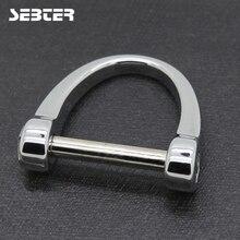 SEBTER автомобильные брелоки мужские брелоки для брендовых автомобильных застежек металлические подковы d-образные брелоки застежка