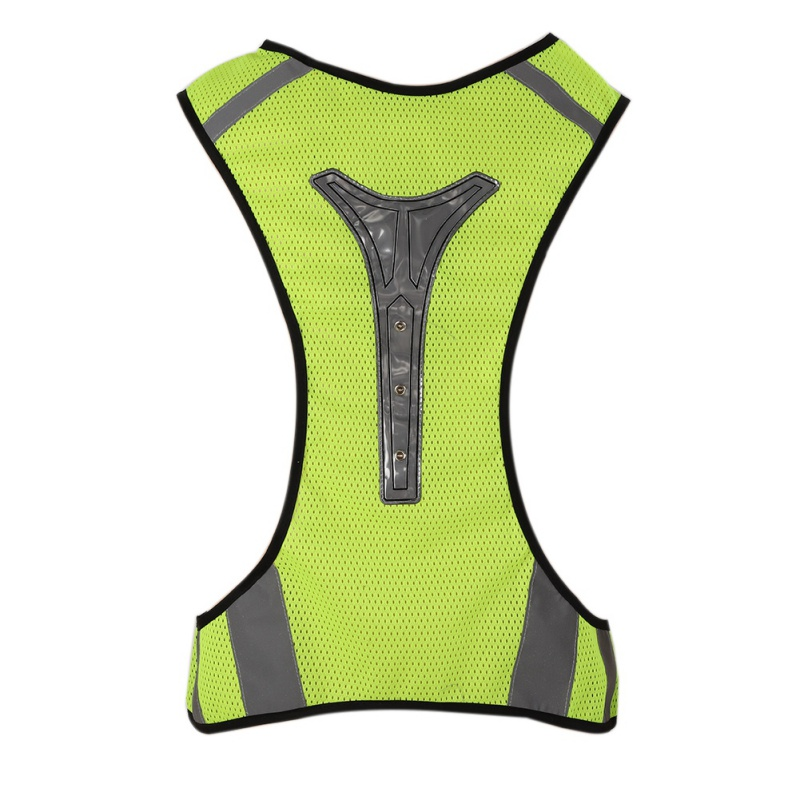1pcs LED Reflective Vest Unisex High Visibility Battery Operated Breathable Adjustable Washable Waistcoat Tank Safety 2018
