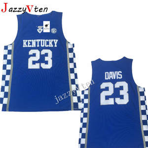 cf67dae95168 Fabric Kentucky Wildcats College Basketball Jerseys Jazz 23 Anthony Davis  15  DeMarcus