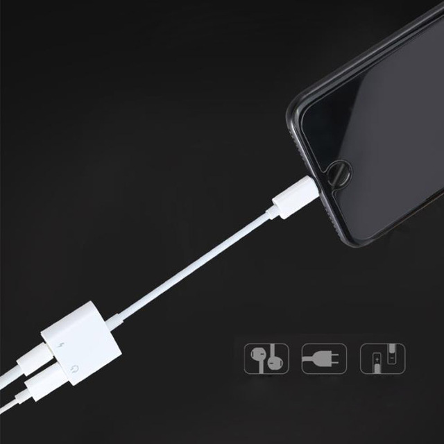 Double pour prise Lightning chargeur adaptateur Audio pour iPhone 7 8 X prise en charge pour IOS 11 appel de musique adaptateur casque convertisseur