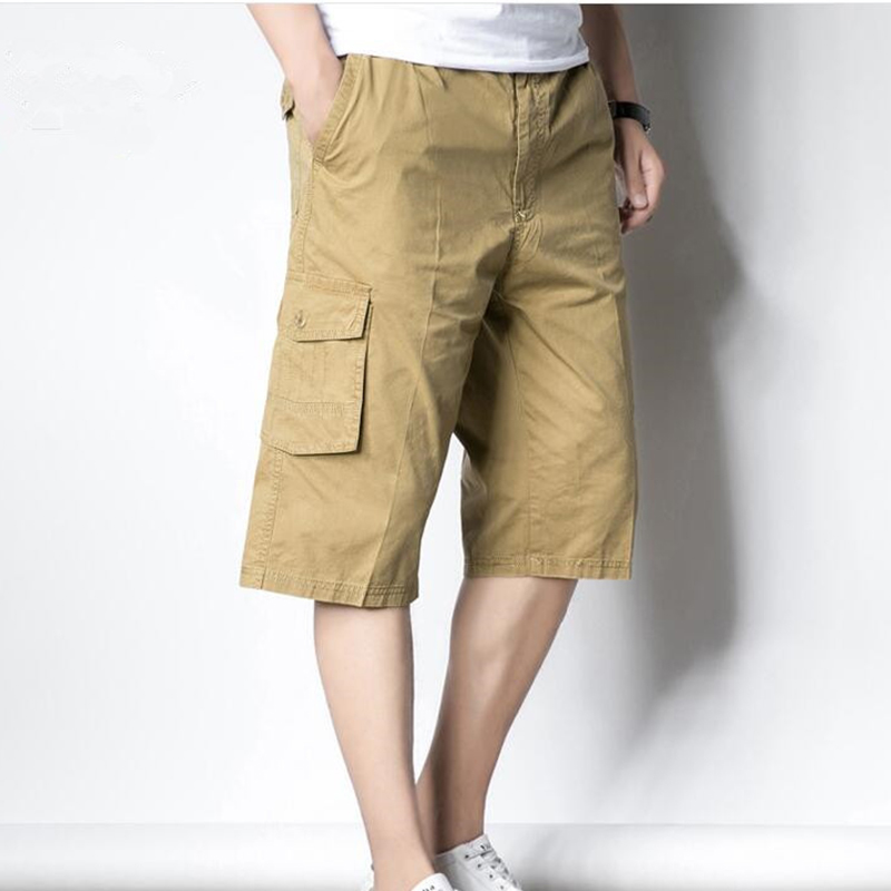 2019 Summer Shorts Men's Casual Elastic Waist Cropped Trousers Large Size