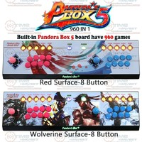 Pandora box 5 Zero delay 960 in 1 game console 8 buttons Version PC PS3 TV arcade joystick USB controller with LED Menu Button