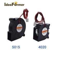 4020/5015 ventilador de refrigeração 12v/24v 50x50x1 5mm/40x40x20mm 2pin xh2.54 cabo terminal para a impressora 3d parte o ventilador de refrigeração da cama de calor.