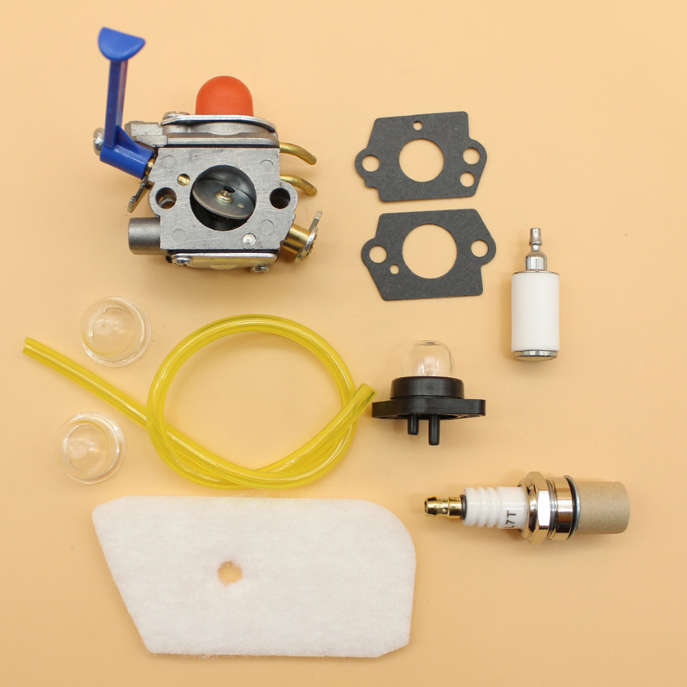 Carburetor Air Filter Primer Bulb Set Fit HUSQVARNA 124 L, 125 L LD, 128 C CD L LD LDX, 128 R RJ DJX Trimmer Zama C1Q-W40A цена
