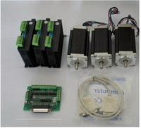 Top Quality ACT 3Axis Nema 23 Stepper Motor Single Shaft 23HS2430 3A 425oz In 112mm Driver