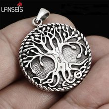 lanseis 10pc Autism world tree necklace Viking Norge Tree Of Life Pendant-Dragon Soul Jewelry Personalized jewelry birthday gift