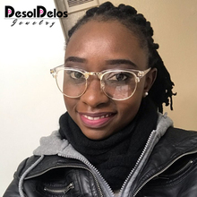 2019 Half Metal Women Glasses Frame Men Eyeglasses Vintage SquareClear Optical Spectacle spectacles