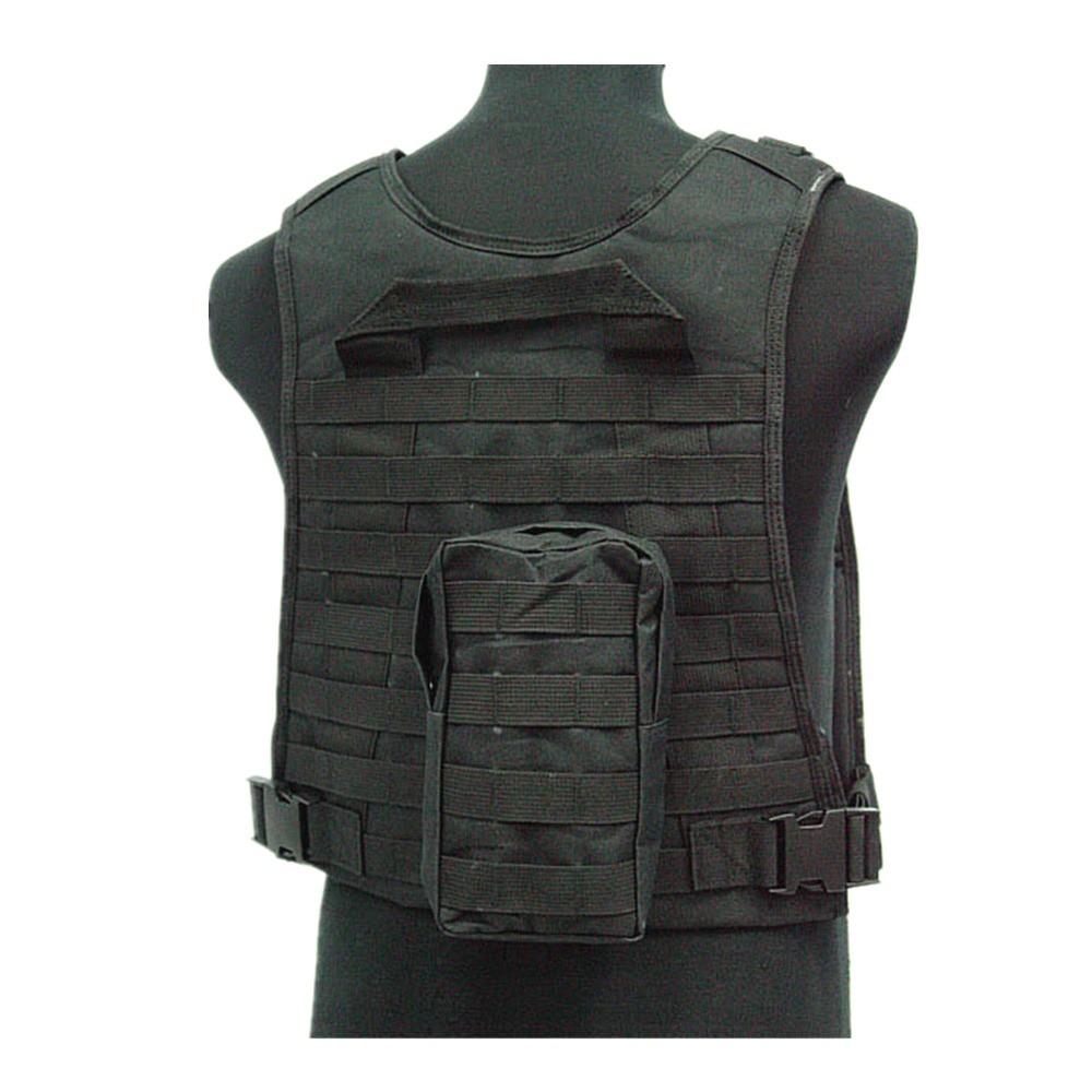 US Marine Assault Tactical Molle Plate Carrier Vest BK CB vest (3)