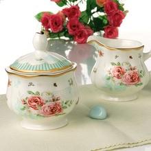 Klassische Luxus Bone China zuckerdose Porzellan Milchkännchen Kaffee Zubehör Keramik Glas Küche Gadgets Werkzeuge