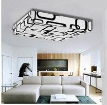 Neue Schwarzweiss Streifen Muster Decke Platz LED Wohnzimmer Lampe Acryl  Geometrie Konferenzraum Deckenleuchte ZA8
