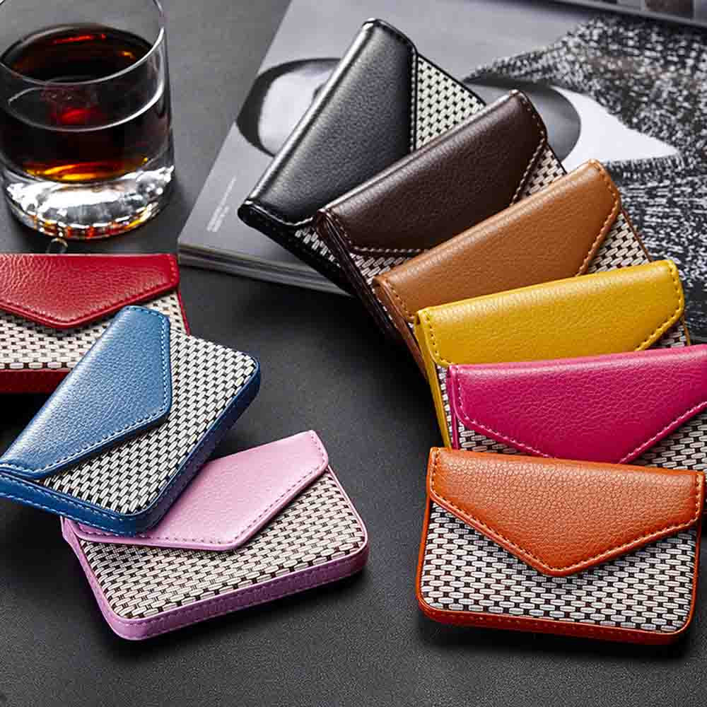 2018 Women Superior Quality Leather Business Name Card Holder Case Wallet Credit Book with Magnetic Shut a# dropship