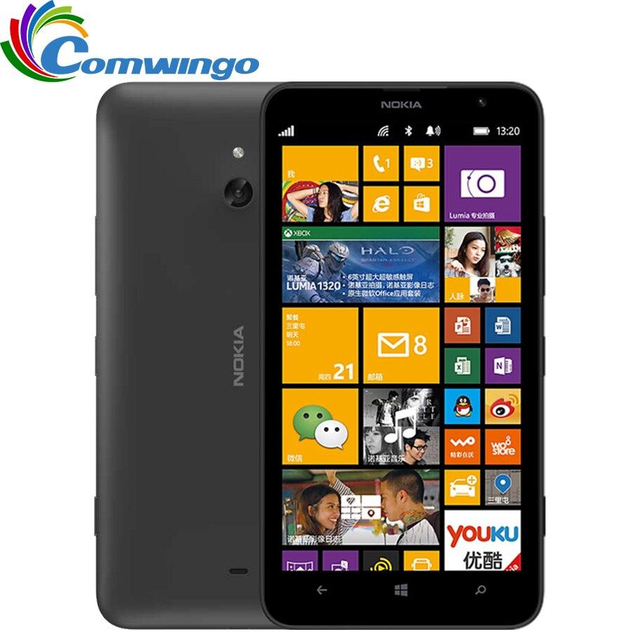 Nokia lumia 1320 mobile phone 1 gb ram 8 gb rom de color blanco negro orange ama