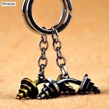 Mini Barbell dumbbell Key Chain fitness jewelery Keychain car Key Chain KeyRings For Men Women Keychains sport jewelry 17394