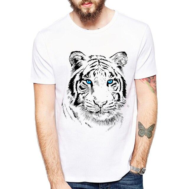 76eebd68 New Summer Style design Animal T-Shirt men Summer Clothes 2019 Round Collar  Men White tiger Printed T Shirt Tops