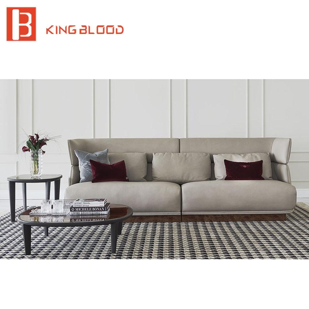 Leather European Style Sofa Living Room