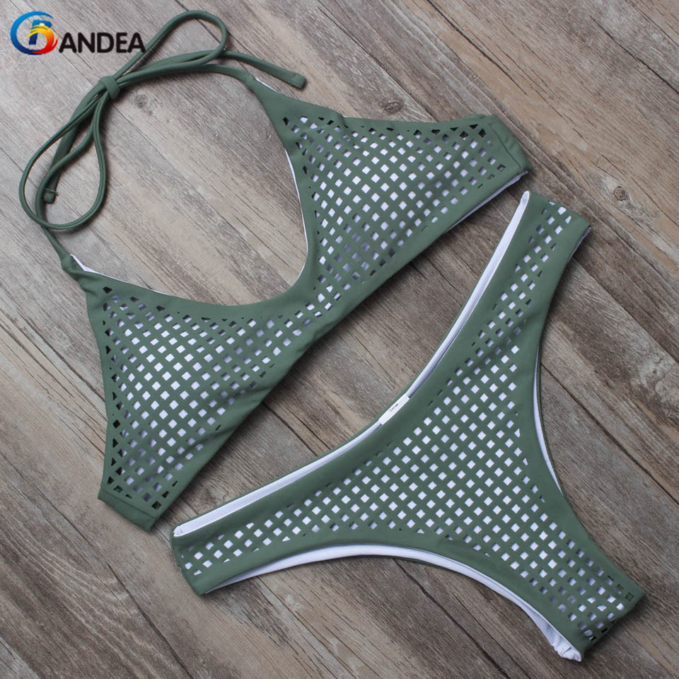 BANDEA swimwear mulheres verão 2019 oco para fora do biquíni cintura baixa swimsuit set bikini brasileiro biquini beach wear HA052