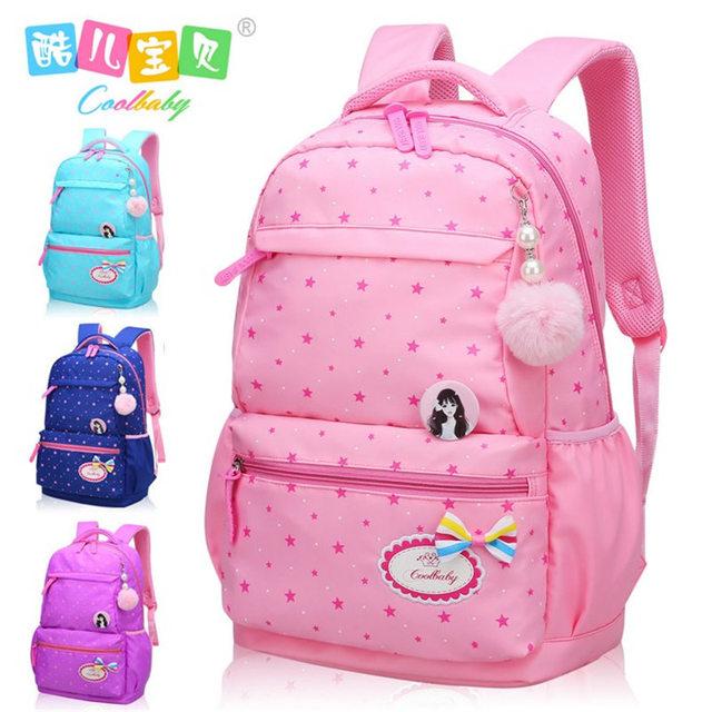 COOL BABY waterproof backpack girl lovely Primary school raw book bag  During spinal children waterproof back bag shoulders d8bbf7aa1ee76