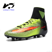 Men Soccer Shoes Indoor Futsal Shoes With Socks Professional Trainer TF Football Boot High Ankle Zapatillas