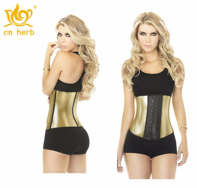 2687dd3493c Cn Herb Golden Waist Rubber Waistband Waist Cover Latex Waist Trainer  European And American Plastic Waist